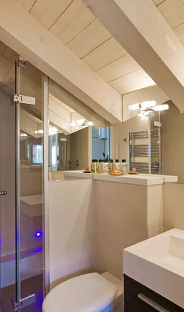 One of the high spec bathrooms at Chalet Floralie in St Martin de Belleville, Three Valleys
